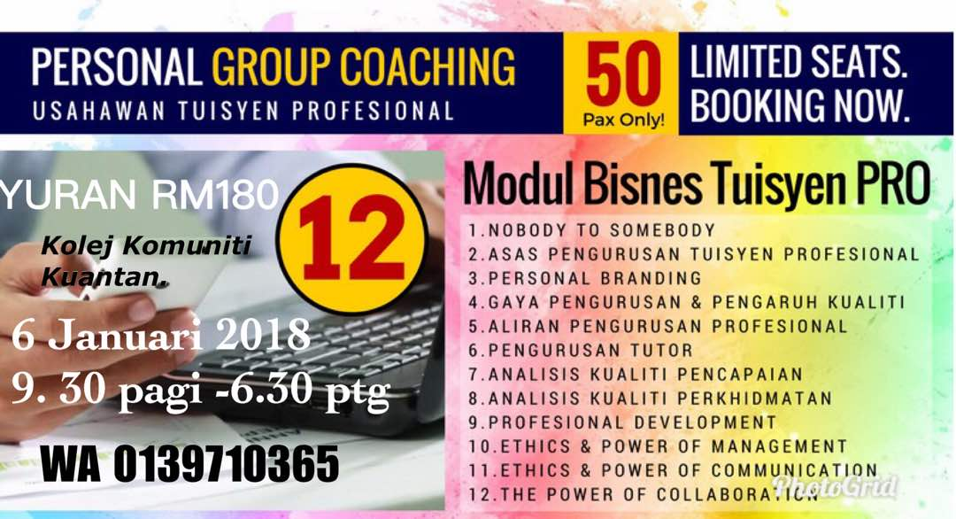 Personal Group Coaching Usahawan Tuisyen Professional images
