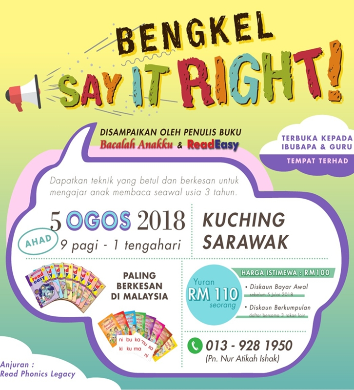 Bengkel Say It Right 5 Ogos 2018 images